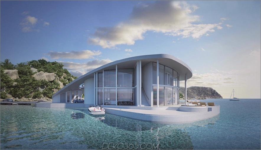 Sting Ray Floating House-Außenkonzept