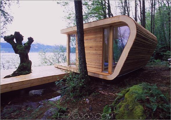 Seehausarchitektur saunders 1 Seehausarchitektur mit modernem Wickeldach