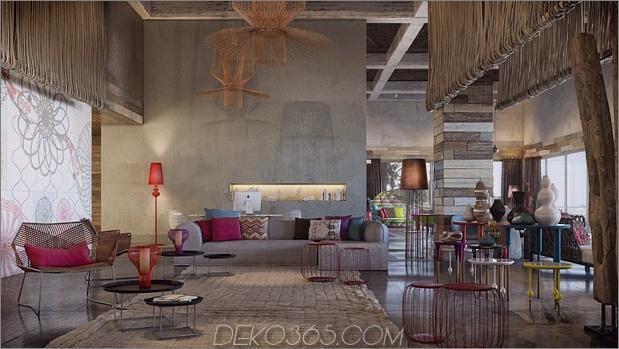 kräftige Farben Naturmaterialien gemütliche Innenräume 2 Lobby thumb 630xauto 43132 Extrem einladende Innenräume von Patricia Urquiola