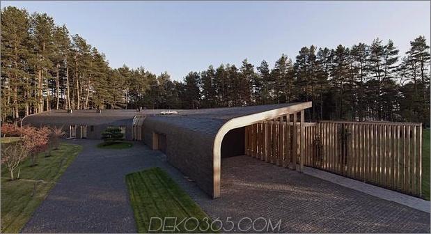 1-stöckiges Dauerdach verschmilzt die Landschaft 1 thumb 630xauto 51797 Sehr ungewöhnliches und sehr cooles dreieckiges Haus in Litauen