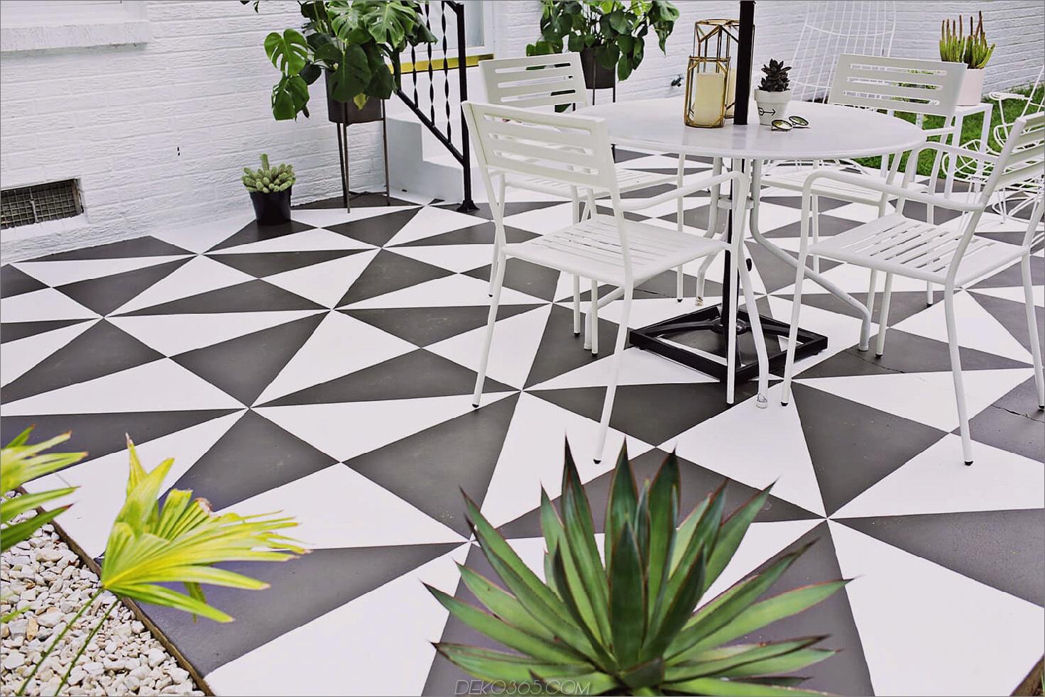 Terrasse mit Musterböden So machen Sie das Beste aus einem kleinen Patio-Raum