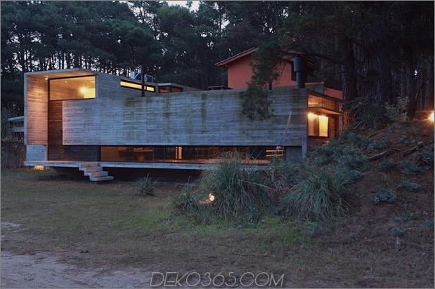Beton Stahl Haus versteckt Kiefernwald 2 Vorhof Daumen 630xauto 33460 Beton und Stahl Sommerhaus in Pine Forest verstaut