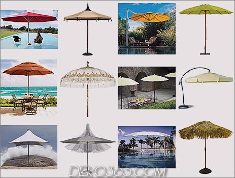 Regenschirme Sonnenschirme Trend 2008 Patio Umbrellas und Outdoor Parasols beste Auswahl für 2008 von Designer Lillian Pikus