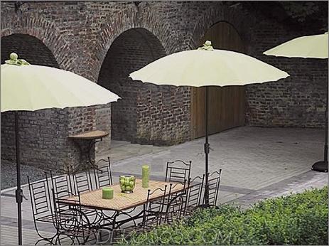 Jardinco Aluminium Parasole Waikiki Beach Patio Umbrellas und Outdoor Parasols beste Auswahl für 2008 von Designer Lillian Pikus