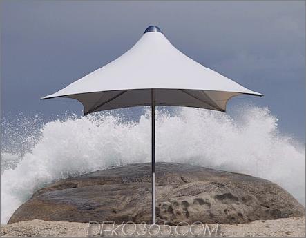 Tradewinds Tornado Sonnenschirm aus weißem Ferrari PVC-Gewebe
