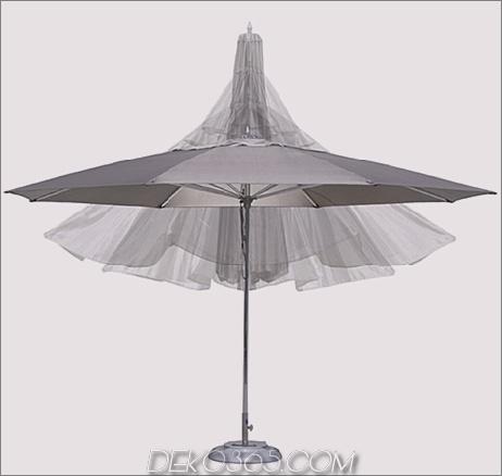 Tuuci Ocean Master Regenschirm in Achteckform mit optionaler Volant