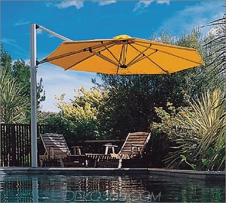 Shademakers Solano Sonnenschirm ist ein freitragender Regenschirm