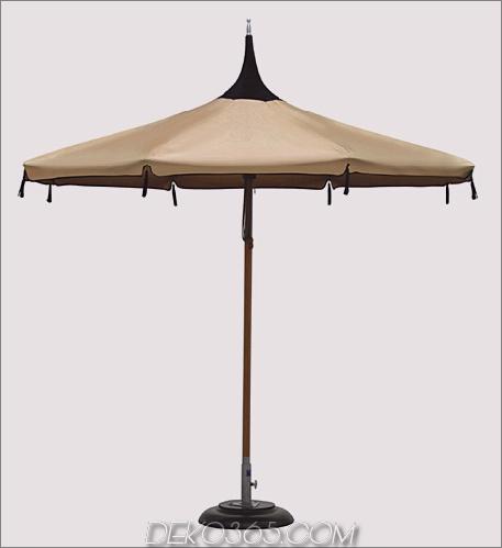 Tuuci Mistral Pagoda Sonnenschirm aus natürlichem Hartholz