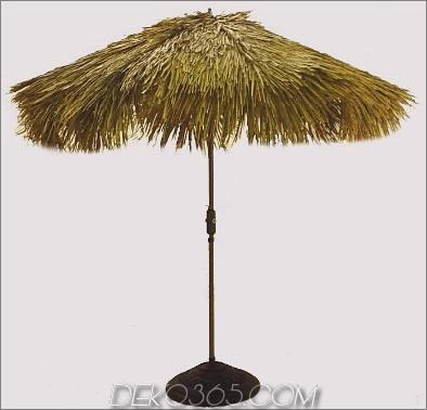 Nicamaka Tiki Fiberbuilt Regenschirm mit Palm Reet