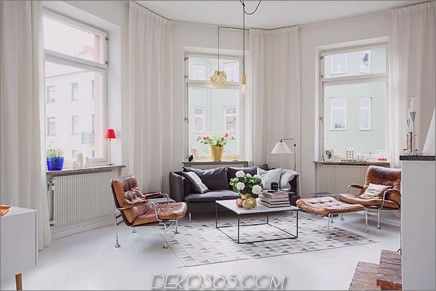 Sonniges und geschmackvoll renoviertes schwedisches Apartment