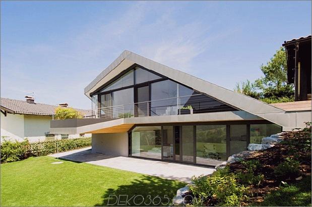 Hangdachhaus mit futuristischem Interieur, das die Landschaft umrahmt Thumb 630x417 13608 Hangdachhaus mit futuristischem Interieur