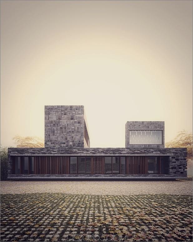 6 minimalistische Häuser gestapelt kreuzweise gemauerte Volumina 2 thumb autox787 47960 Steinmetzarbeit mit Bambus nach innen wachsen