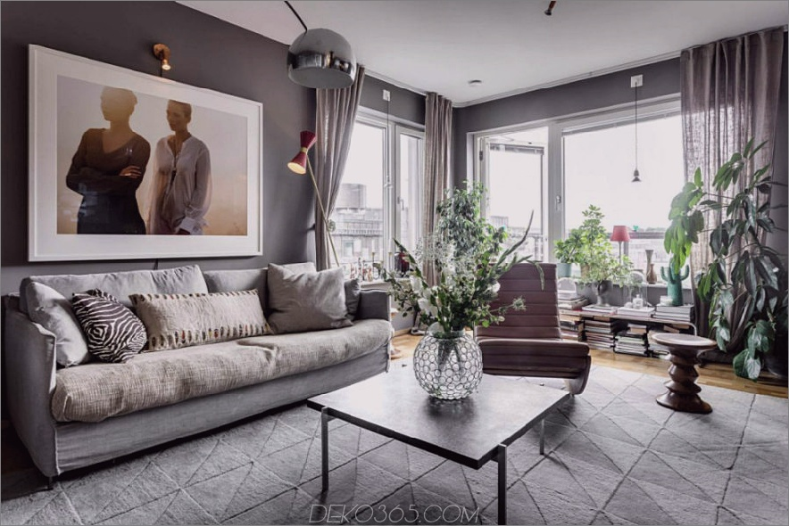 Grün schafft ein Gefühl von Heimgarten 900x600 Stylish in Stockholm: Contemporary Apartment With Flair von Alexander White