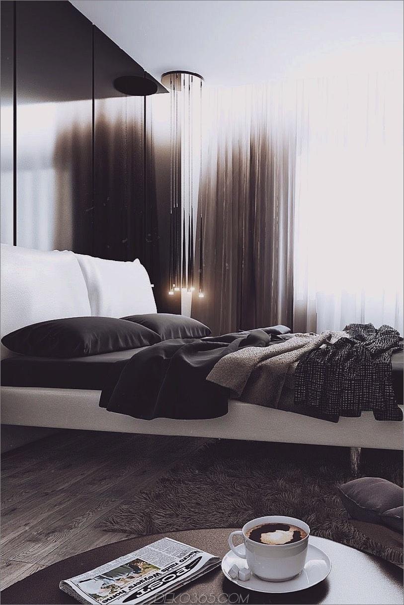 Absolut atemberaubendes dunkles Schlafzimmer