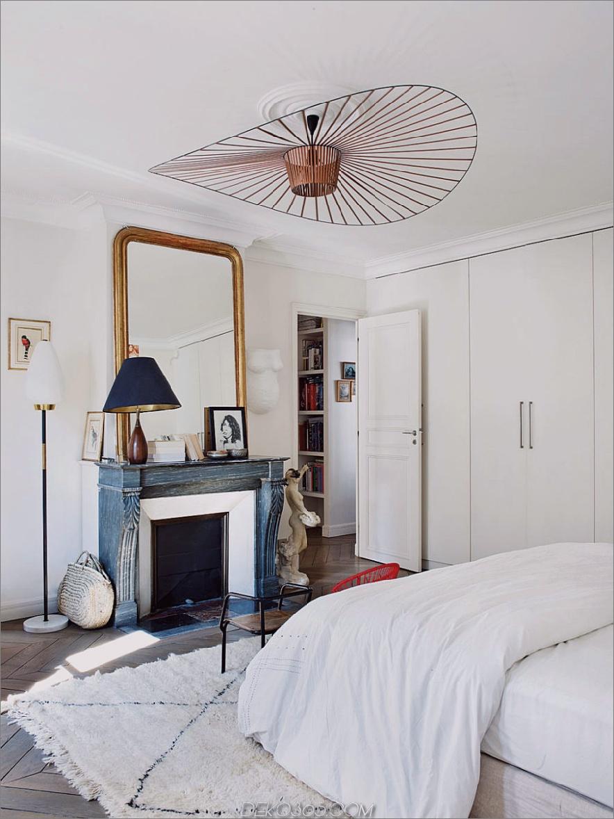 Stilvolles weißes Schlafzimmer