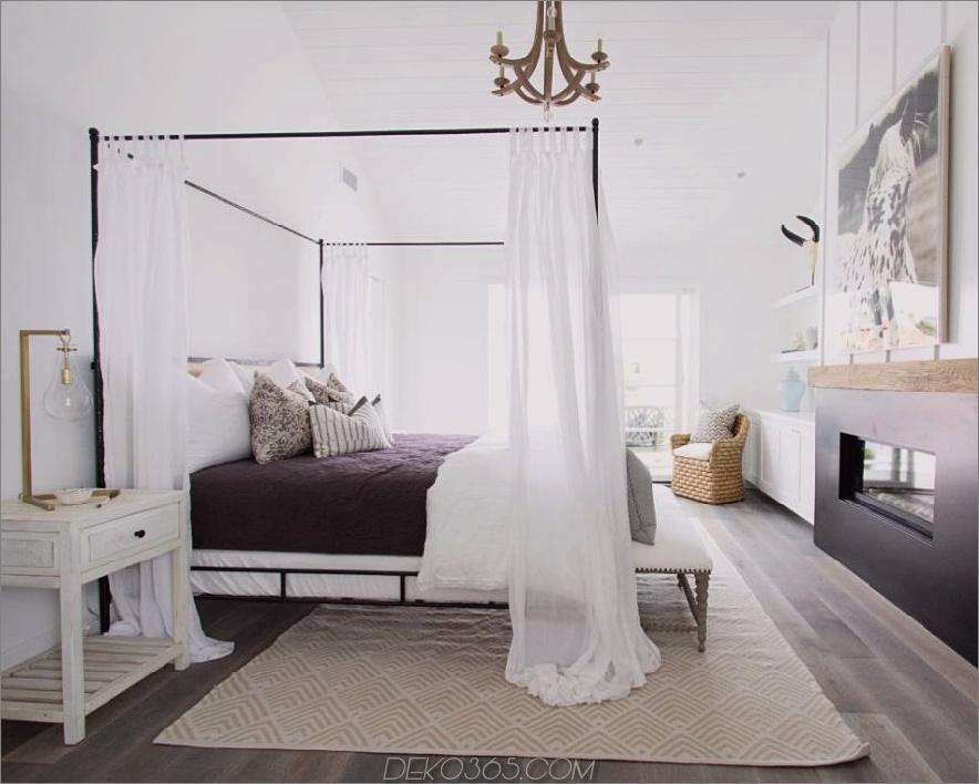 Romantisches Schlafzimmerdesign von Blackband Design