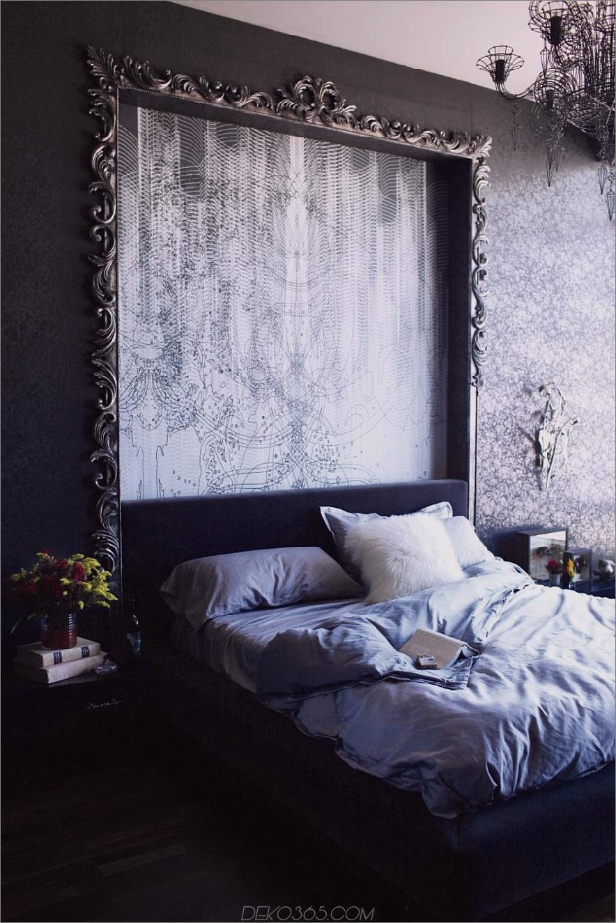 Dramatisches dunkles Schlafzimmer von BAM Design Lab