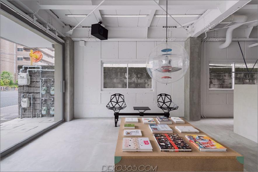 Wartebereich 900x600 Stilvoller japanischer Friseursalon aus Beton und Holz