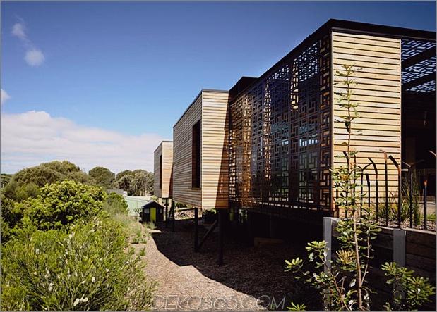 Strandhaus geometrische schirme gebaut Sanddünen 1 Äußeres thumb 630xauto 39101 Strandhaus mit geometrischen schirmen auf Sanddünen gebaut