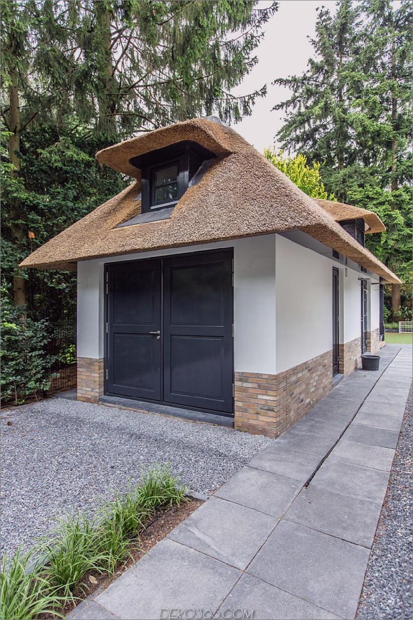 Die Villa hat den gleichen Stil und die gleiche Ästhetik wie das Hauptgebäude