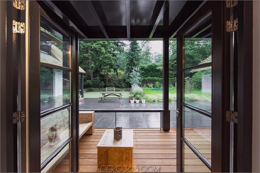 Terrasseneingang aus dem Haus heraus