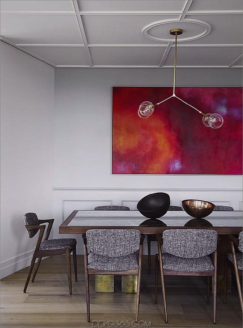 Der Speisesaal folgt der narrensicheren Anordnung von Möbeln, Licht und Kunstwerken
