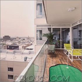 Luxus Hollywood Penthouse mit schickem Spielzimmer, das das Schlafzimmer ersetzt