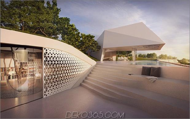 freitragendes Küstenhaus mit minimalistischem weißem Interieur 1 thumb 630x393 12005 Super moderne Architektur an der griechischen Küste