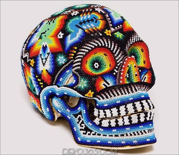 Tag der Toten Dekor huichole Schädel Daumen 630xauto 57081 Tag der Toten Dekor: Es ist das neue Halloween
