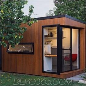Zeitgenössischer Holzschuppen mit schwarzen Fensterrahmen 285x285 The She Shed: Moderne Stile für Ihren Garten