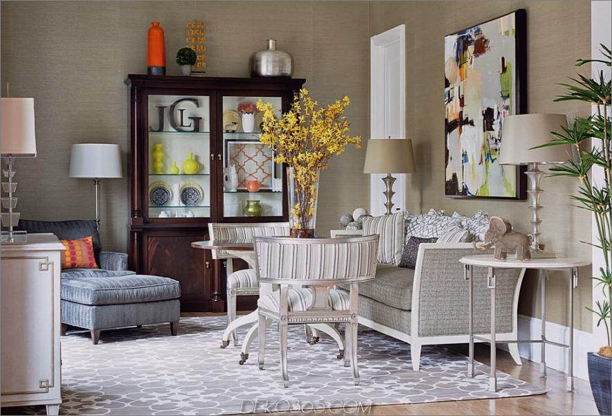 Zeitgenössisches modernes Wohnzimmer, dekoriert für den Herbst 900x611 Tis Autumn: Living Room Fall Decor Ideas