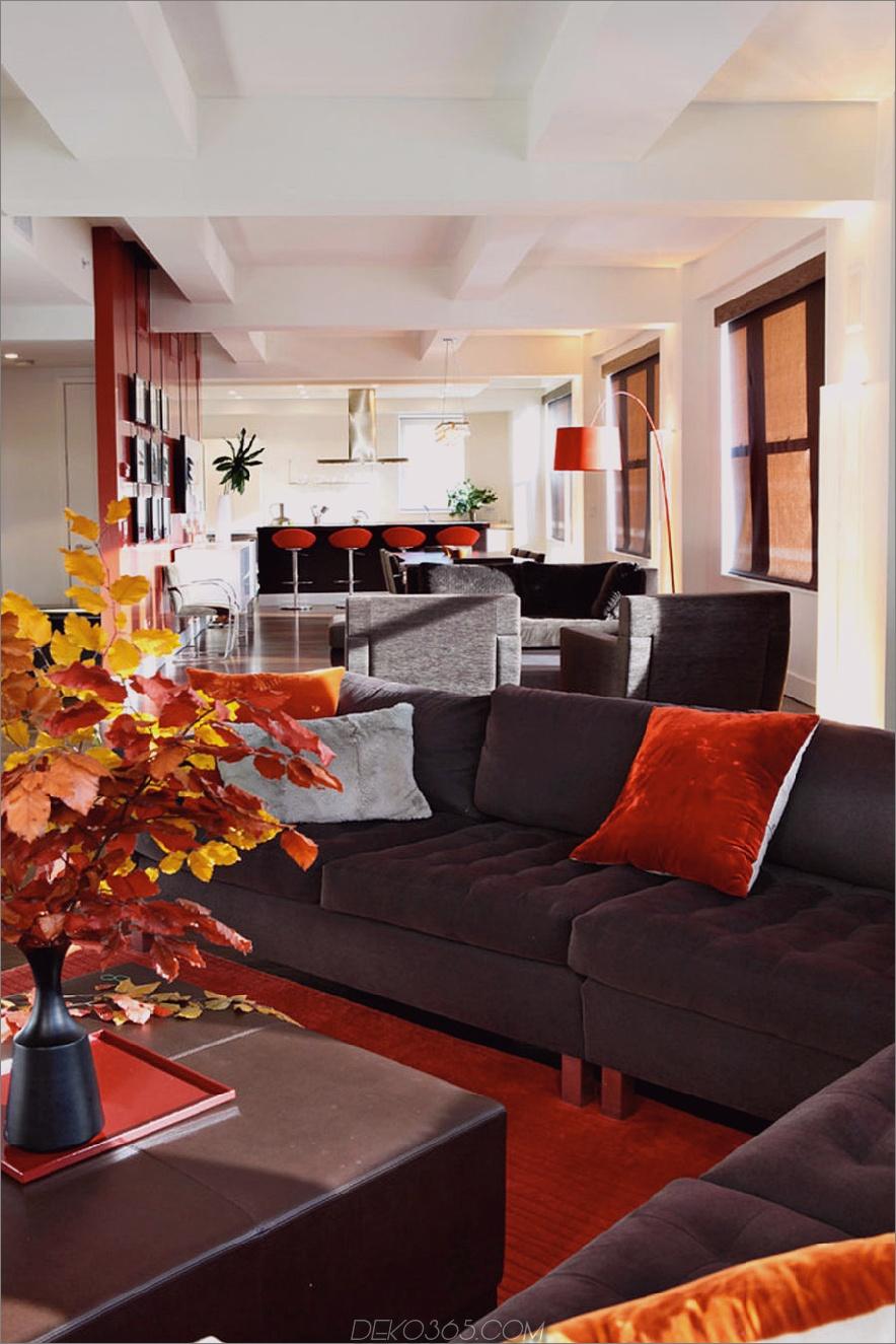 Zeitgenössisches Wohnzimmer im Herbstdekor 900x1350 Tis Autumn: Living Room Herbstdekor-Ideen