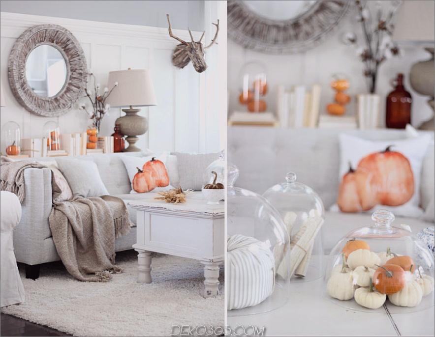Geschmackvoller Herbst Wohnzimmer Dekor