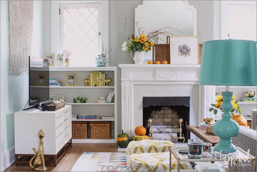 Weiße Wohnzimmerdekorationen