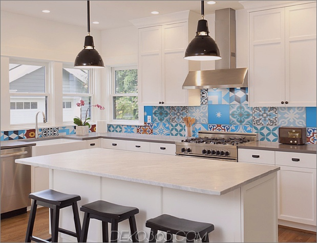 Top 15 Patchwork Fliese Backsplash Designs für die Küche_5c590c70ad262.jpg