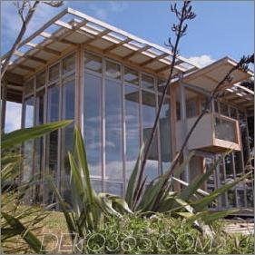 Zeitgenössisches Sustainable Waterfront Loft - Split Box in Neuseeland