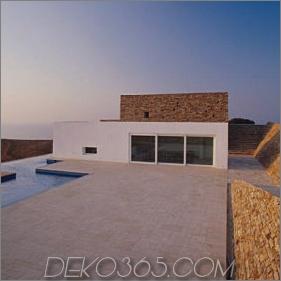 Unterirdisches Hausdesign auf den griechischen Inseln