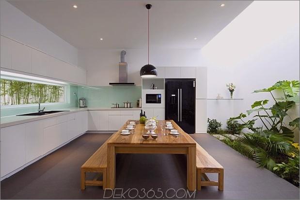 urban vietnamesisches Haus kombinierter Raum Indoor-Garten 1 Tisch gerade Daumen 630x420 18741 Urban Vietnamesisches Haus Garten, Küche, Ess- und Wohnraum in einem Raum