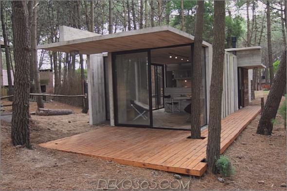 casa xs 3 Vacation House Design Rustikales Betonhäuschen für minimalen Unterhalt