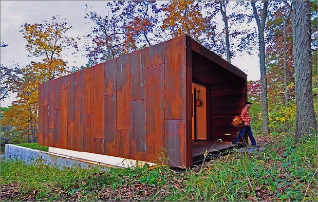rustikales Country-Musikstudio aus Glas und rostigem Stahl 2 thumb 630x399 11372 Rusted Steel Studio Design