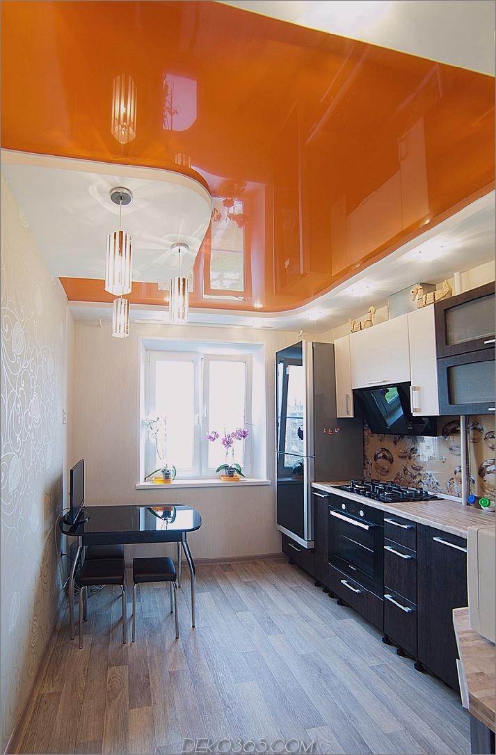 orange Decke in der Küche verschönern Sie Ihr Zuhause mit einer orangefarbenen Küche