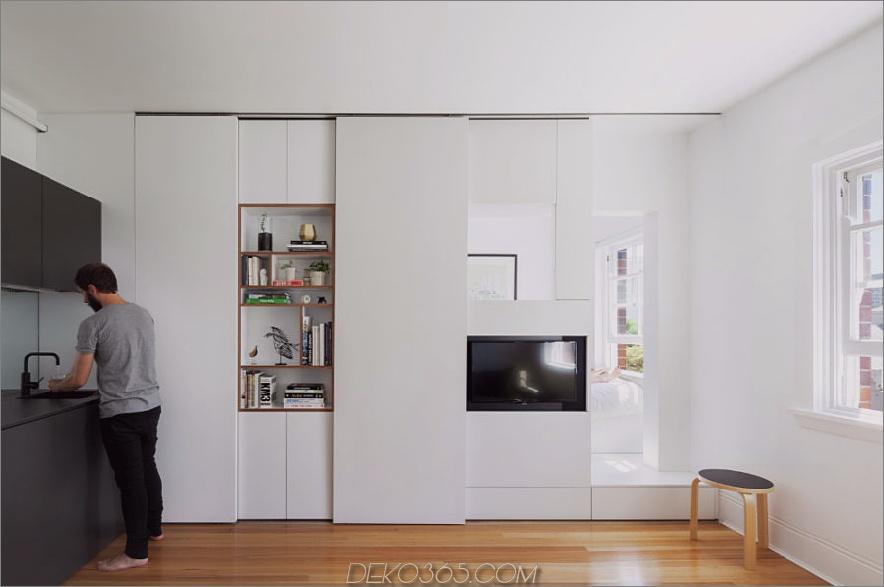 Darlinghurst Apartment von Brad Swartz Architect 900x597 einziehbare Wände für flexibles Wohnen