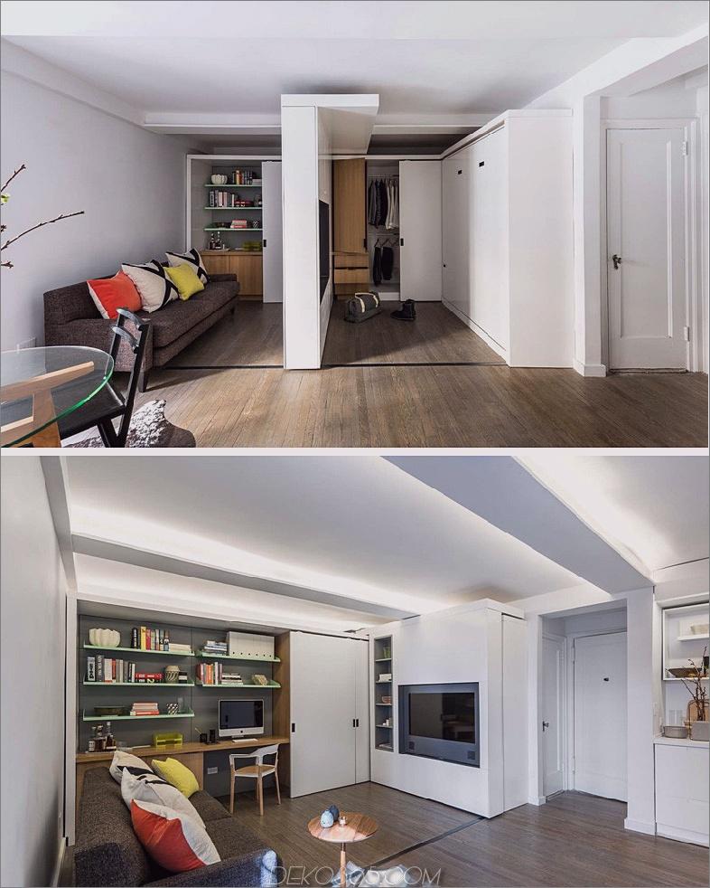 Mikro-Wohnung versenkbare Wand
