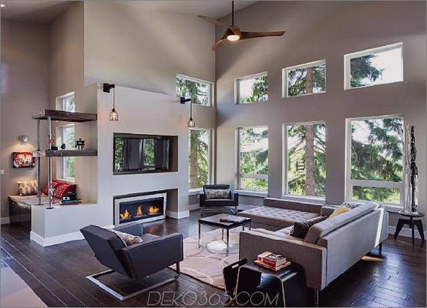 modernes vertikales Haus ragt zwischen den Bäumen hervor 2 thumb 630x454 10925 Vertical Mountain Cottage ragt zwischen den Bäumen hervor