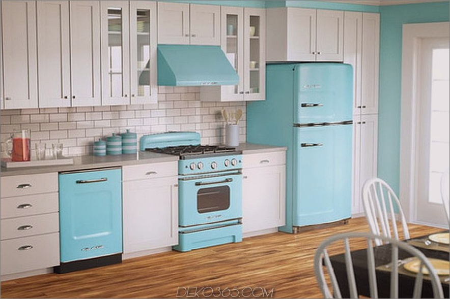 Beach Blue Applianced Kitchen