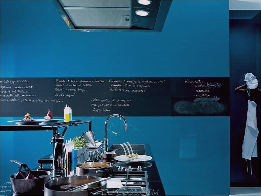 Blaue Hochglanzfliese mit Tafelrand
