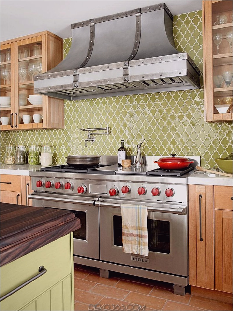 Key Lime Green Kitchen