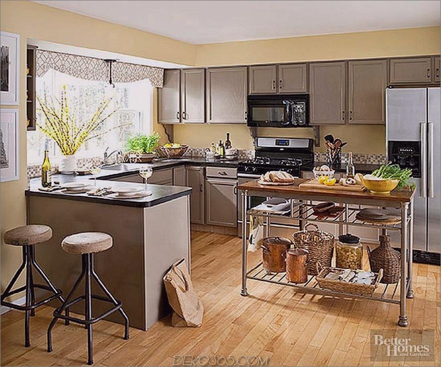 Mokka und gelbe Küche