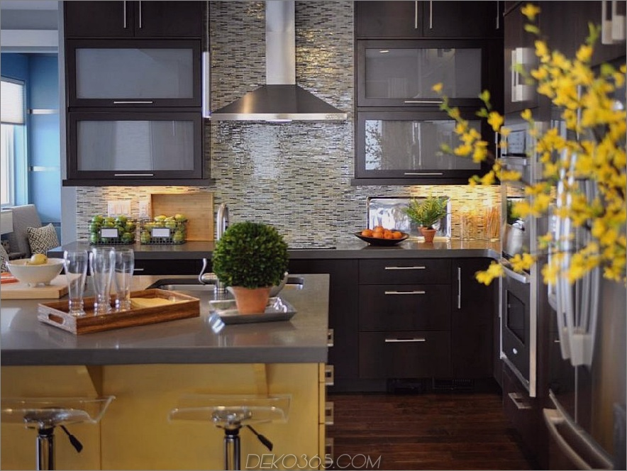Sunny Yellow und Espresso-Küche
