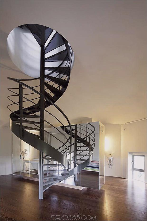 Wasserturm umgebaute private Residenz 2 Foyer thumb 630x945 31147 Wasserturm in private Residenz umgewandelt